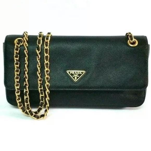 ffafd62540a Prada Bags | Saffiano Lux O Wallet In Chains | Poshmark